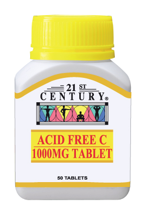 Acid Free Vitamin C 1000mg ( from Calcium Ascorbate ) 50 tablets
