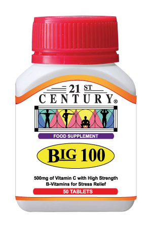Big 100 - B Complex + Vitamin C 500mg, 30 tablets
