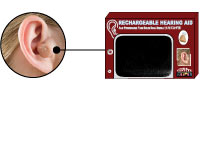 RECHARGEABLE HEARING AID, no more batteries, high quality