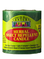 Herbal, Insect Repellent Candle, Non Toxic and Safe