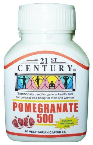 POMEGRANATE Extract 500MG, 60 Vegetarian Capsules